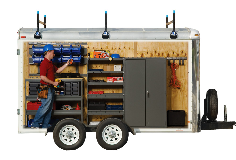 Portable Trailers Work : Remodelers organize your business with a cargo trailer