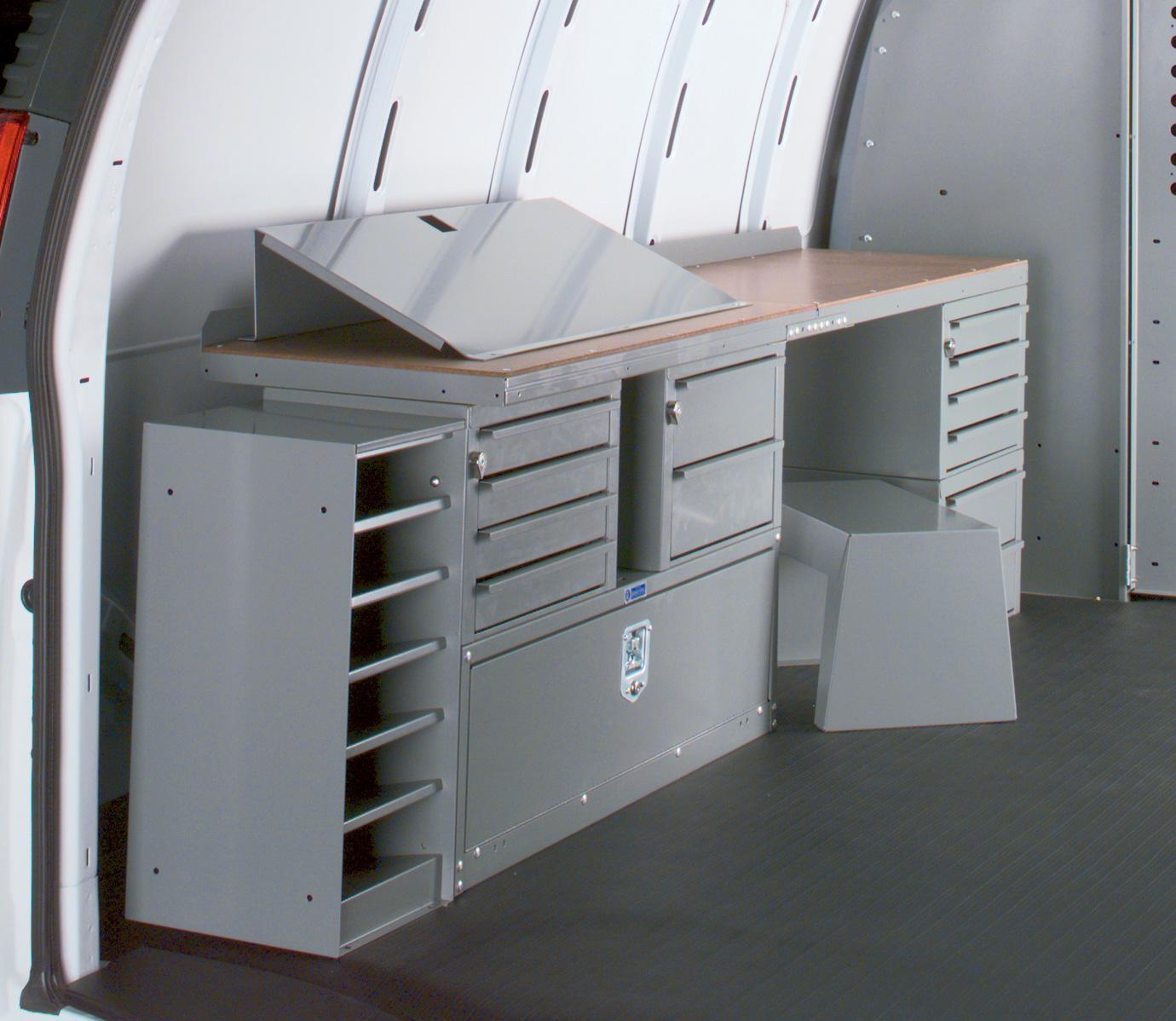 Locksmiths Work Bench And Storage Module For Van Adrian