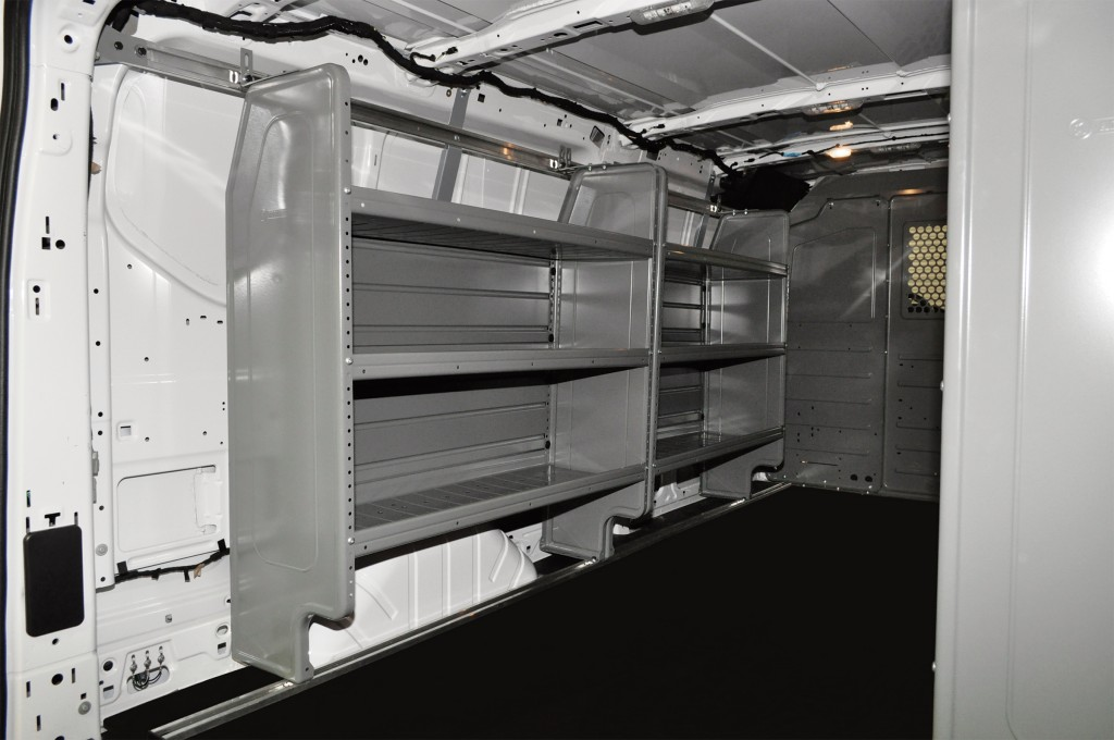 Base Shelving Package for the Ford Transit | Adjustable Shelving Unit for Your PHVAC Vehicle | Adrian Steel