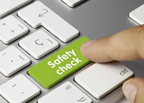 green safety check button on keyboard   Winter driving safety checklist   Adrian Steel