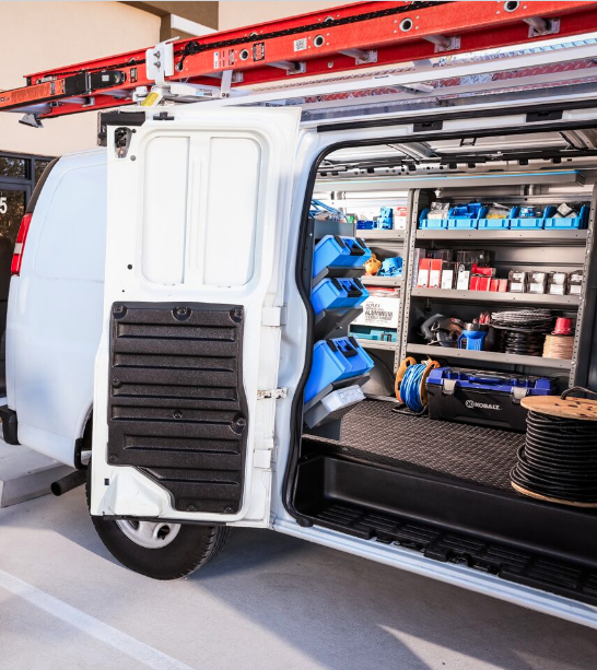 Upfit van to increase work van productivity