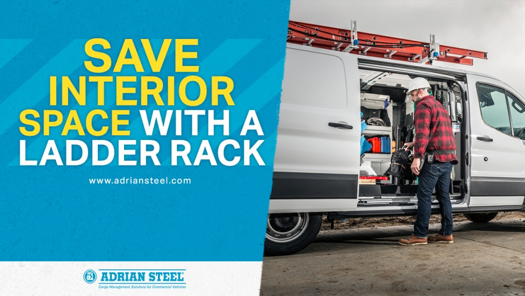 Save interior space with a ladder rack
