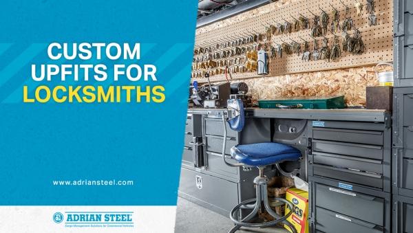 Custom upfits for locksmiths; a van interior upfit for a locksmith