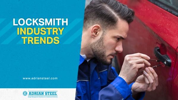 Locksmith industry trends; locksmith working on a car door